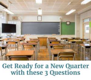 Cover of get ready for a new quarter questions PDF